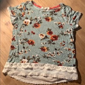 Rewind s small floral rose top shirt lace